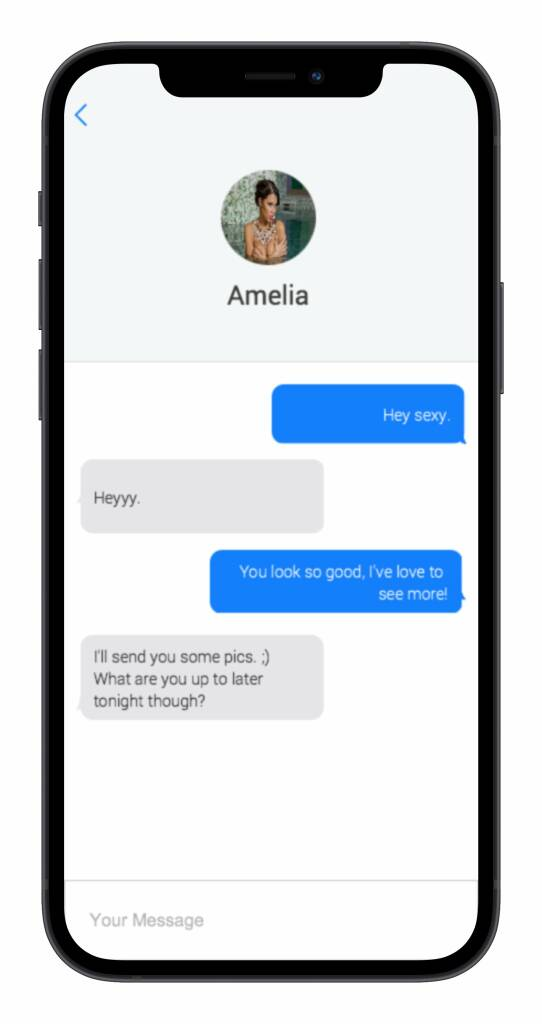 Snapsext app messages screen